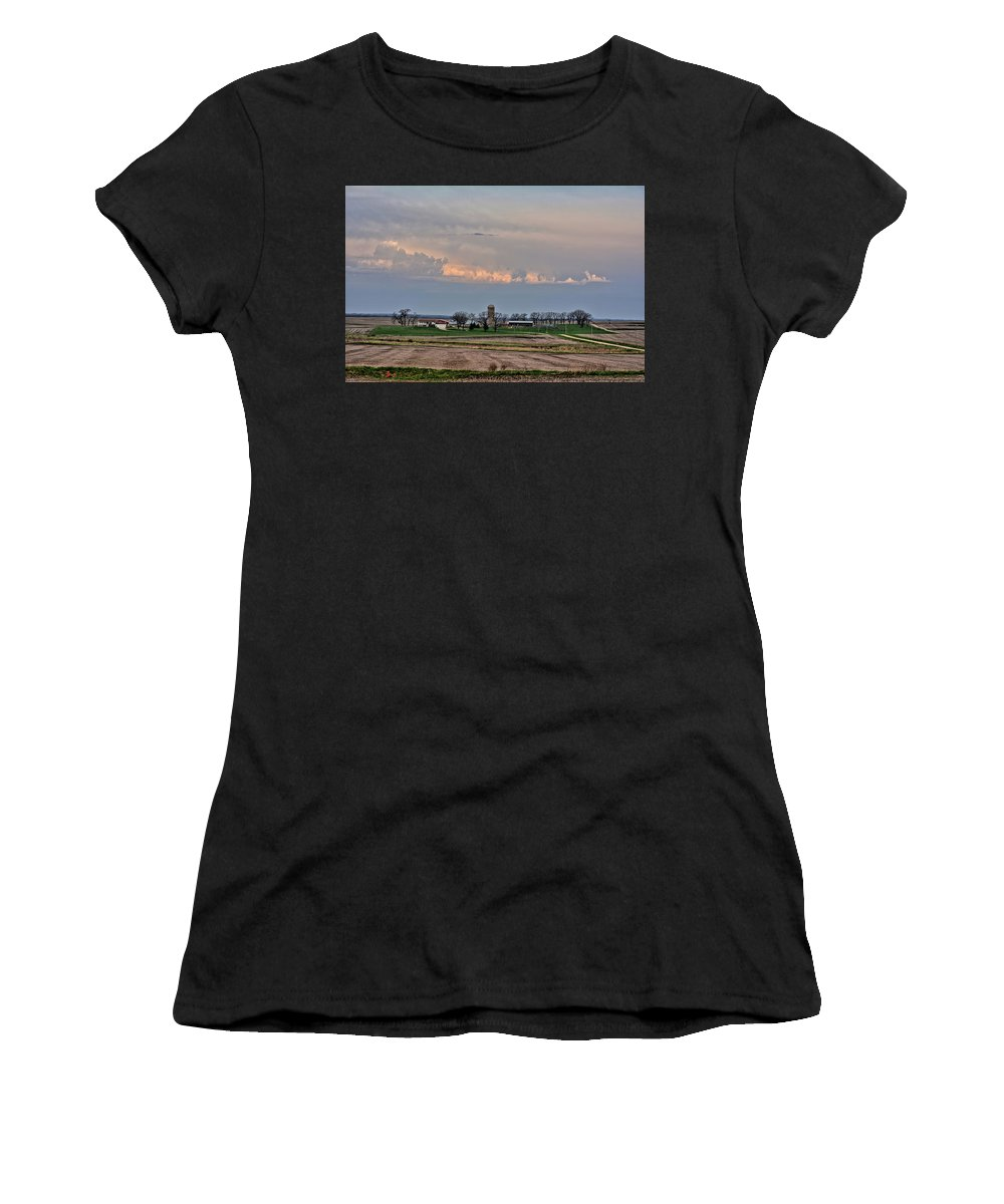 Farm Women's T-Shirt featuring the photograph Spring Storms Farm 2 by Bonfire Photography