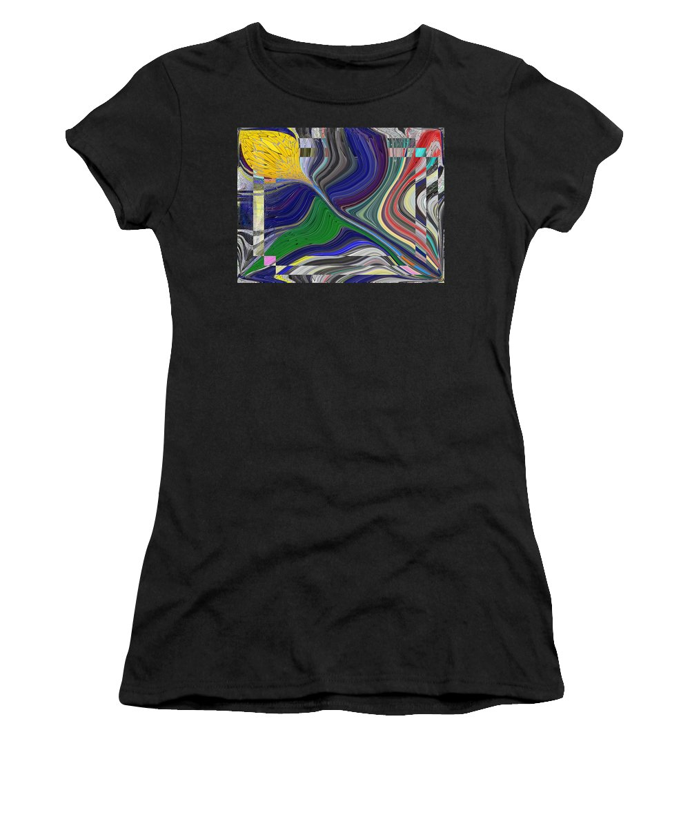 Abstract Women's T-Shirt (Athletic Fit) featuring the digital art Springtime Delight by Tim Allen