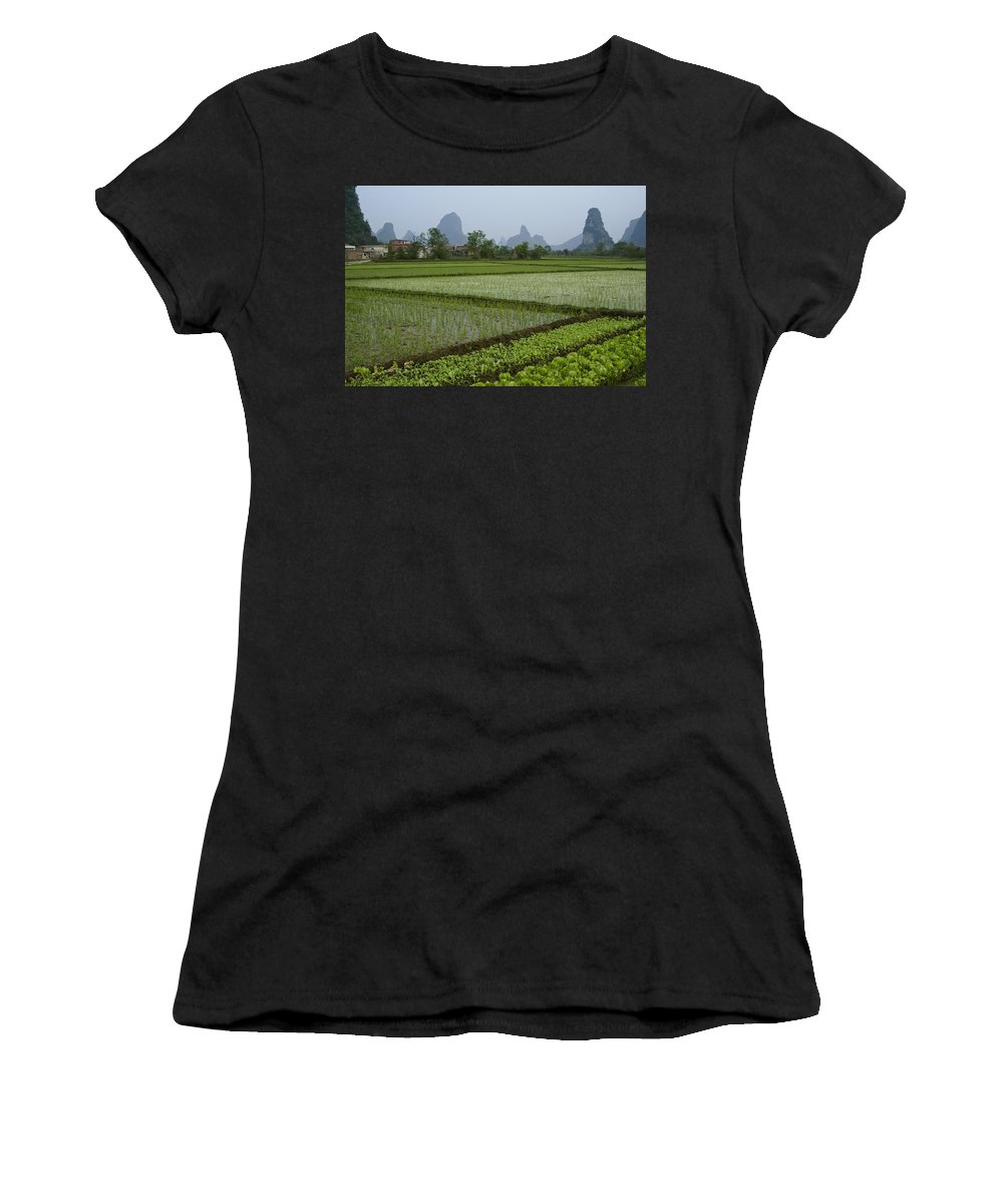 Asia Women's T-Shirt (Athletic Fit) featuring the photograph Springtime In Guangxi by Michele Burgess