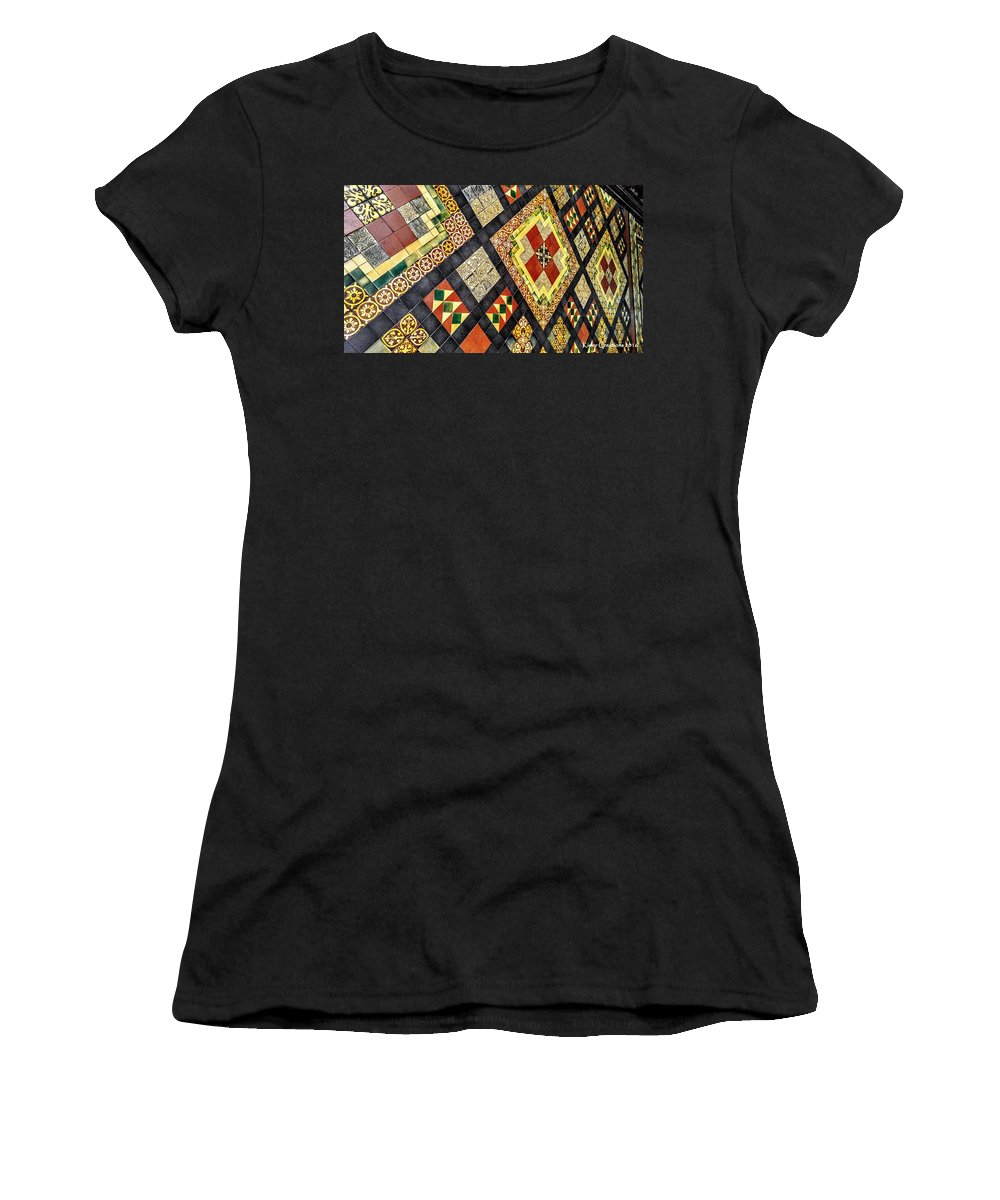 Dublin Women's T-Shirt featuring the photograph St. Patrick's Cathedral Mosaic Floors by Kisler Creations