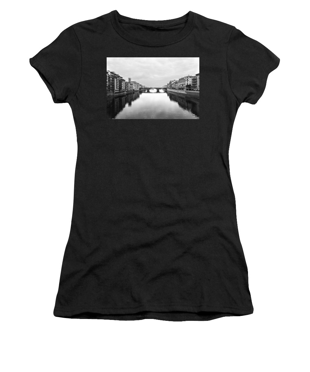 2011 Women's T-Shirt featuring the photograph St. Trinity Bridge, Florence by Jovanni Casaus