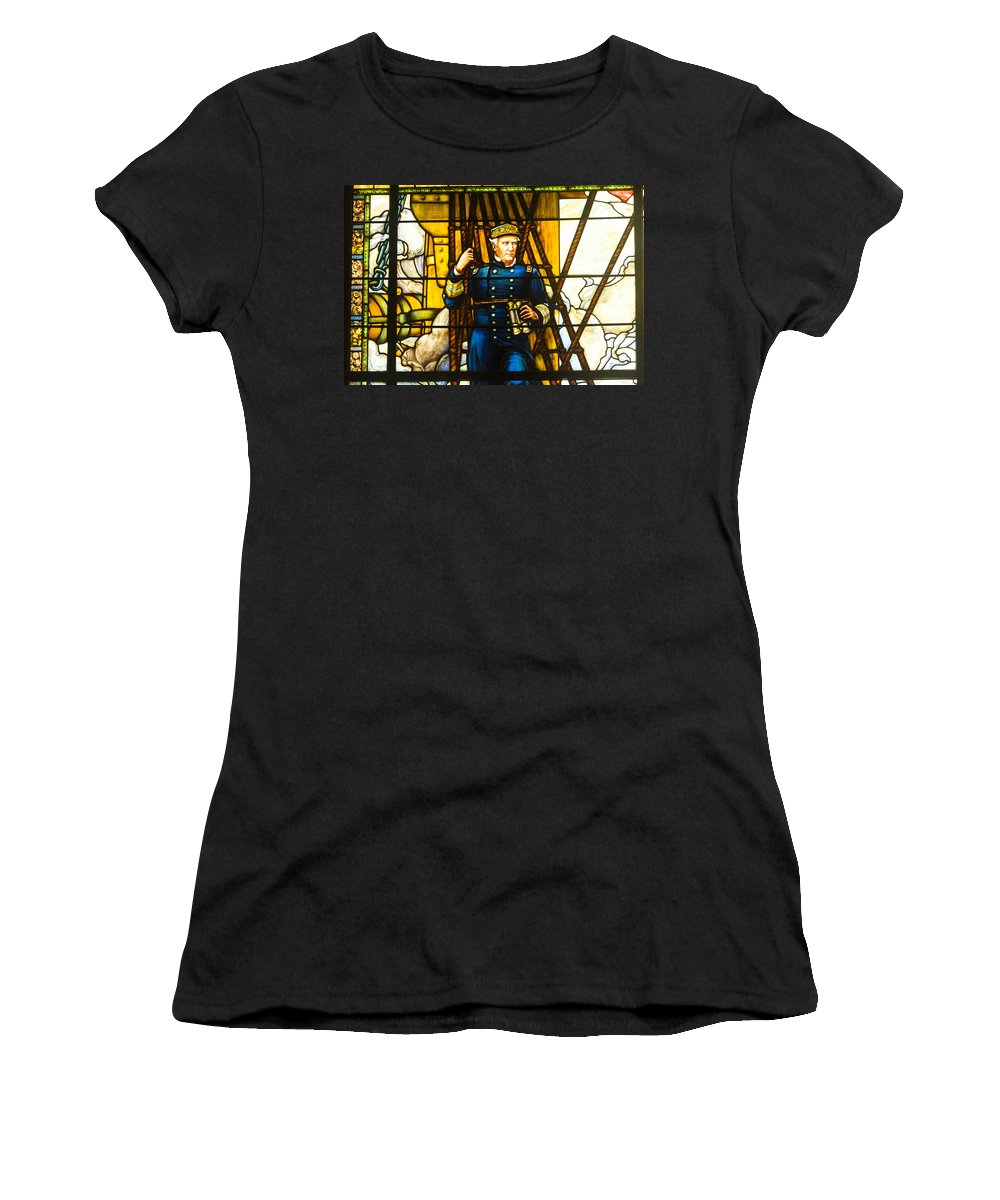 Annapolis Women's T-Shirt featuring the photograph Stained Glass Window by Richard Nowitz