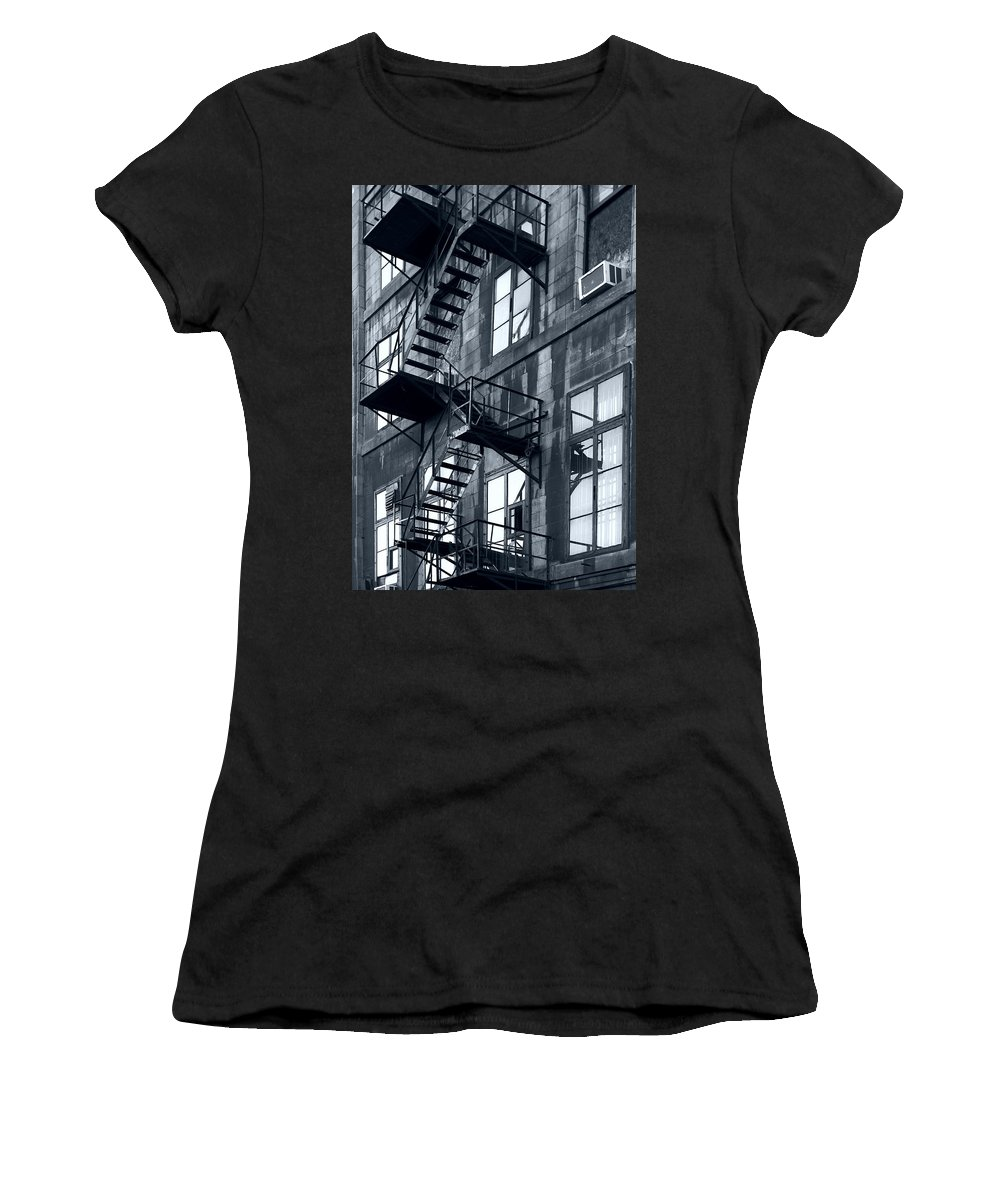Canada Women's T-Shirt (Athletic Fit) featuring the photograph Stairs by Pierre Logwin