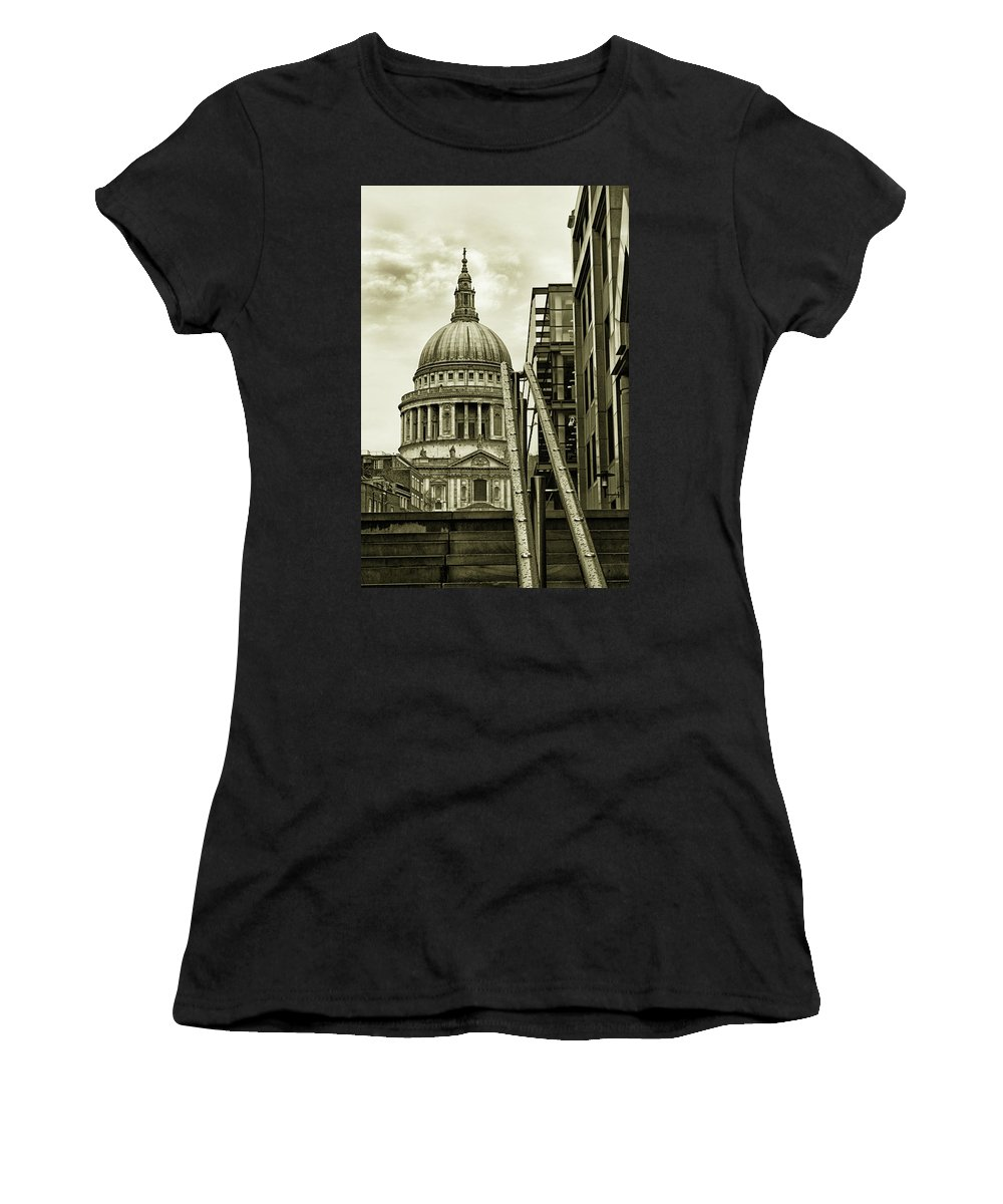 London Women's T-Shirt (Athletic Fit) featuring the photograph Stairs To St Pauls by Martin Newman
