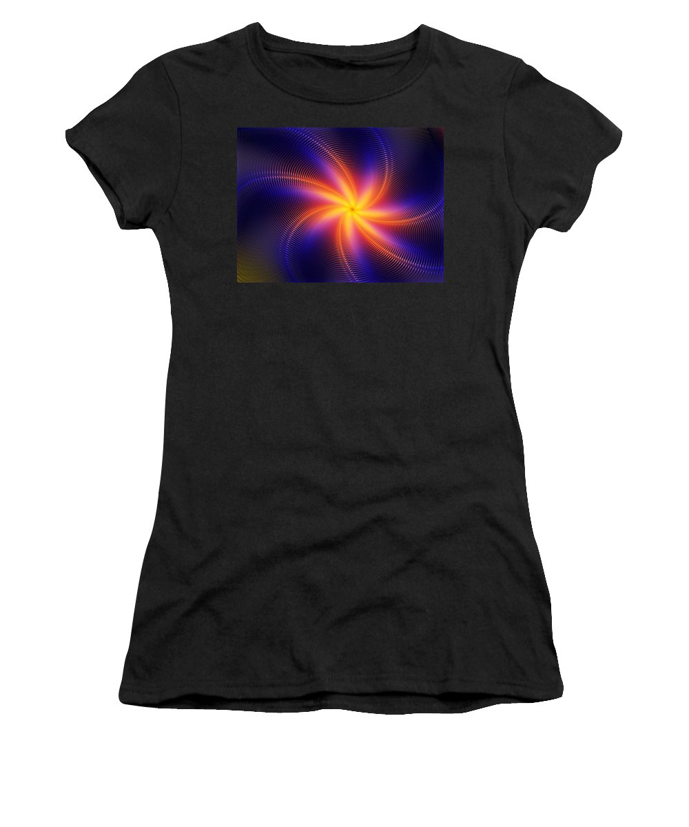 Digital Painting Women's T-Shirt (Athletic Fit) featuring the digital art Star Daze by David Lane