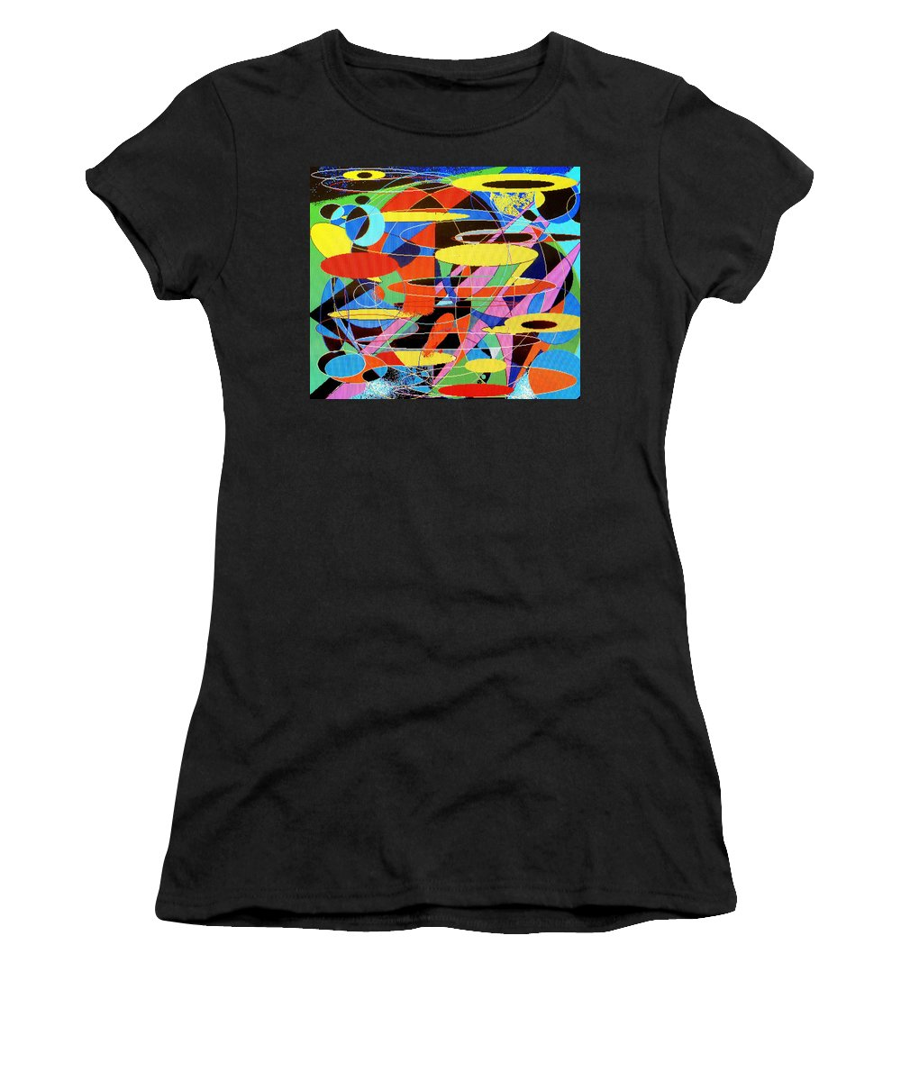 Abstract Women's T-Shirt (Athletic Fit) featuring the digital art Star Wars by Ian MacDonald