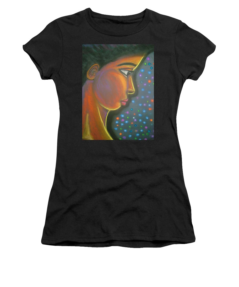 Women's T-Shirt (Athletic Fit) featuring the drawing Starbrite by Jan Gilmore