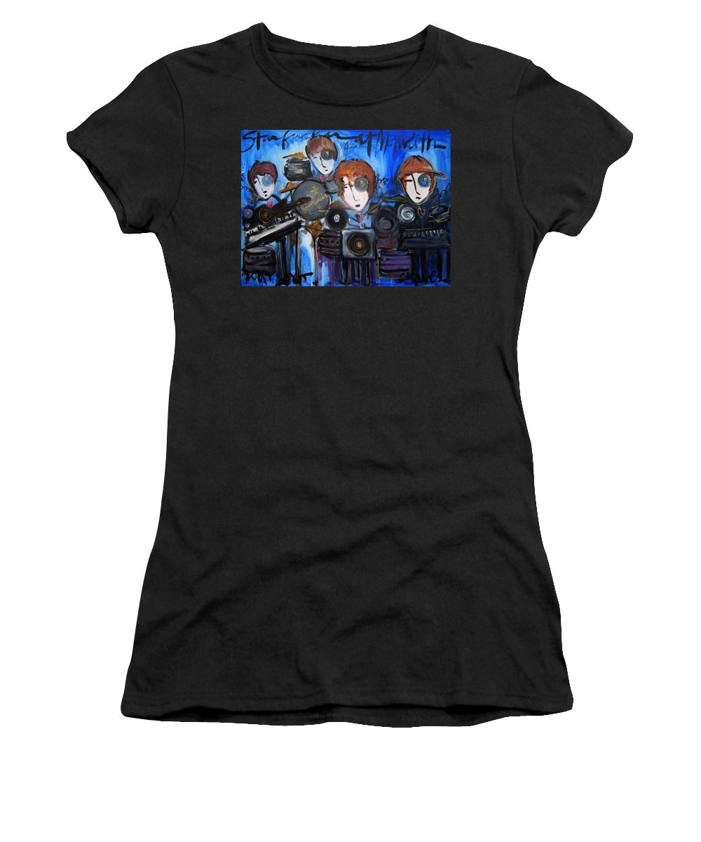 Laurie Maves Art Women's T-Shirt featuring the painting Starfucker At Monolith by Laurie Maves ART