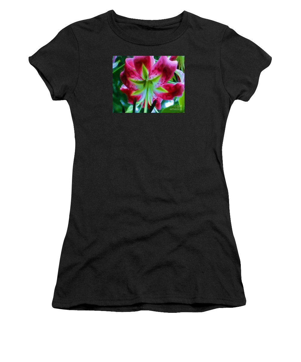 Fine Art Photography Women's T-Shirt (Athletic Fit) featuring the photograph Stargazer by Patricia Griffin Brett