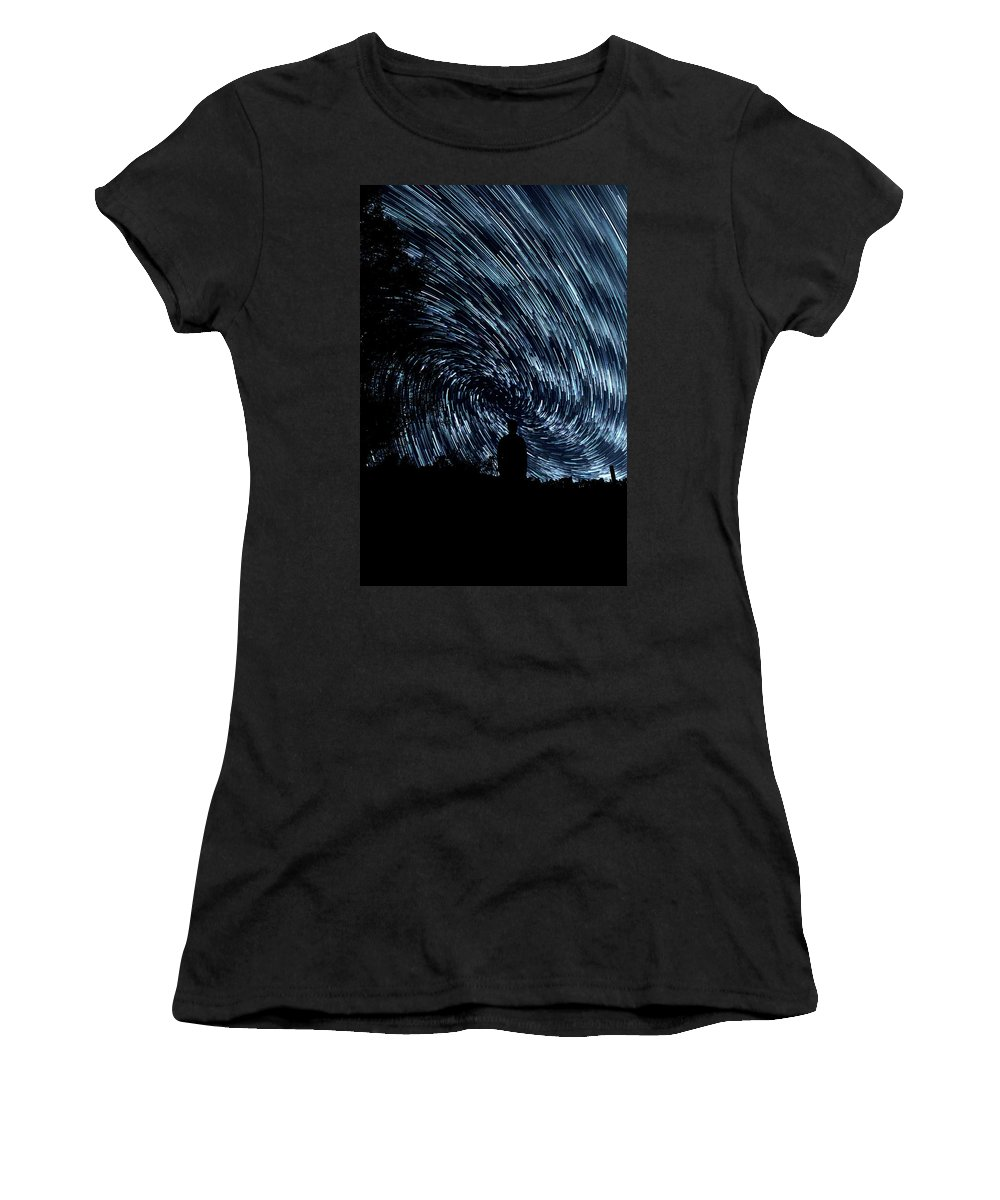 Stars Women's T-Shirt (Athletic Fit) featuring the photograph Starlights by Happy Home Artistry
