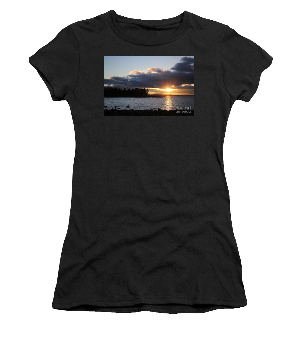 Sunset Women's T-Shirt featuring the photograph Starry Sunset by Colleen Snow