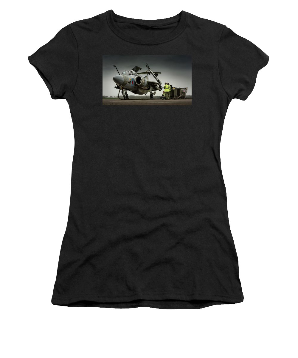 Aeroplane Women's T-Shirt (Athletic Fit) featuring the photograph Start Up by Simon Johnson