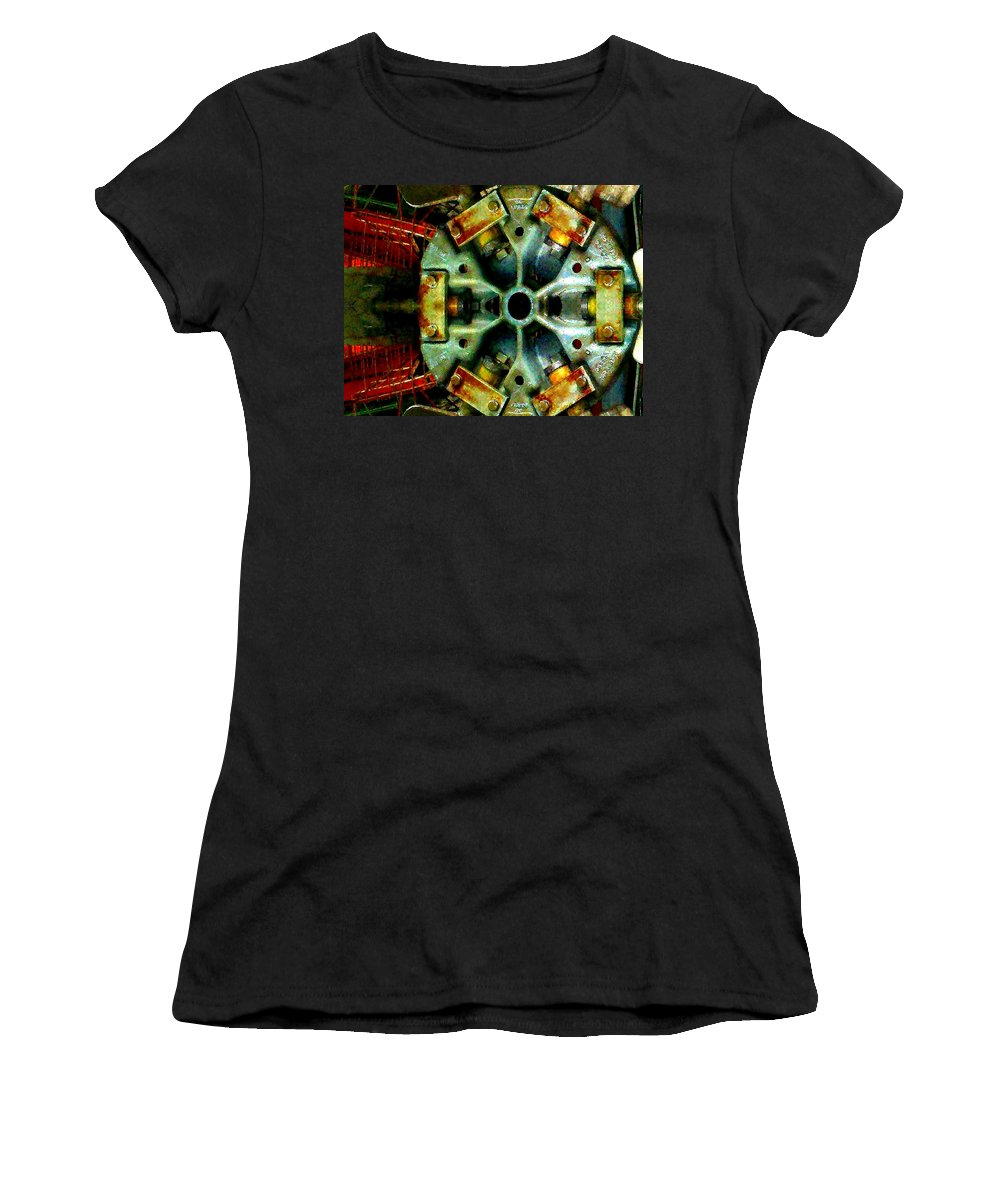 Steam Punk Women's T-Shirt (Athletic Fit) featuring the photograph Steampunk Machination 1 by Marianne Dow