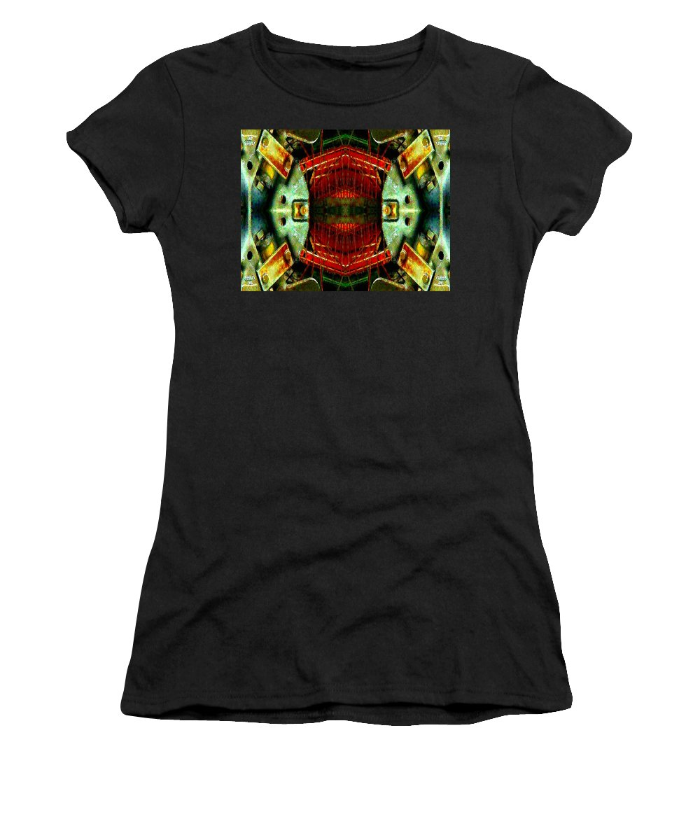 Steam Punk Women's T-Shirt (Athletic Fit) featuring the photograph Steampunk Machination 4 by Marianne Dow