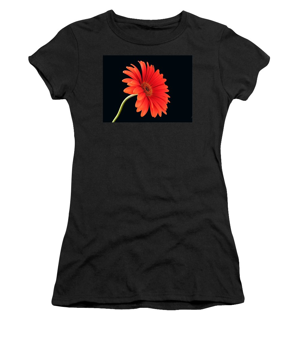 Flower Women's T-Shirt (Athletic Fit) featuring the photograph Stemming Beauty by Carol Milisen