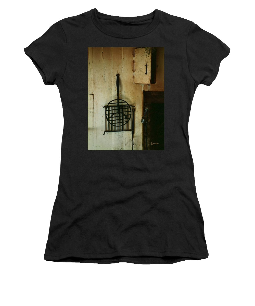 Still Life Women's T-Shirt (Athletic Fit) featuring the painting Still Life With Hearth Tools by RC DeWinter