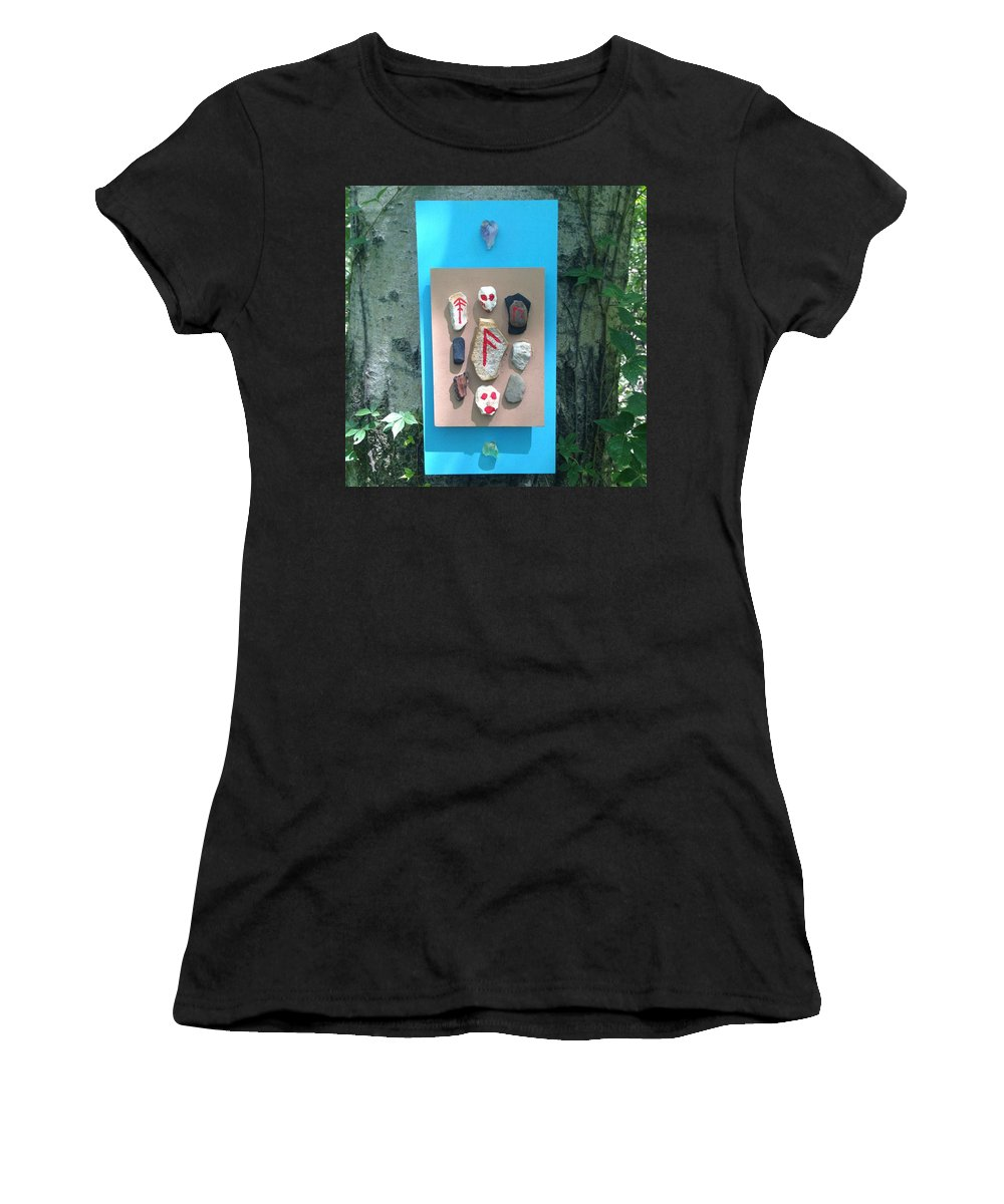 Freya Women's T-Shirt (Athletic Fit) featuring the photograph Stones Of Cosmic Transformation by Seidr Arts