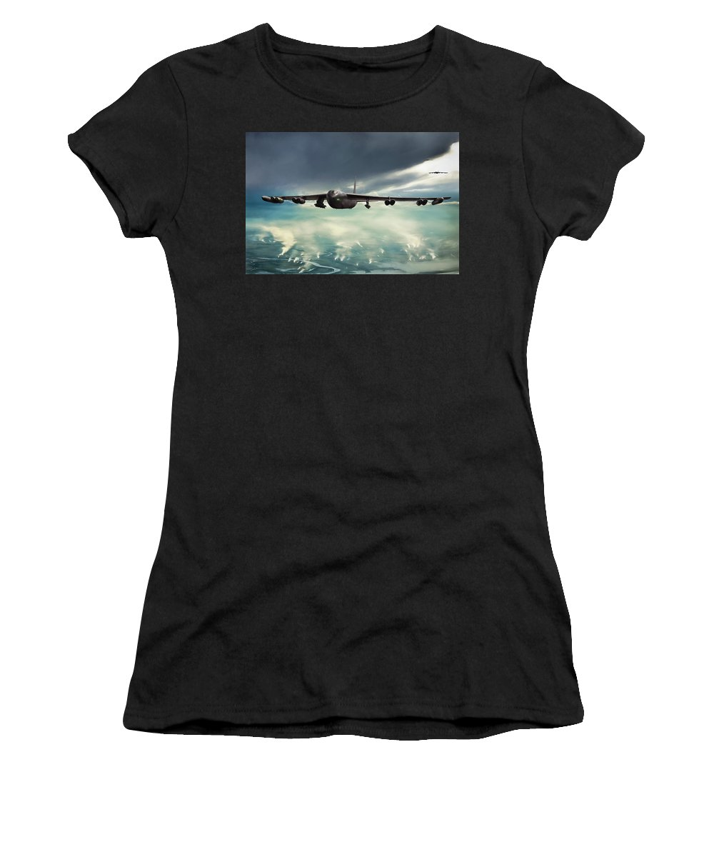Aviation Women's T-Shirt (Athletic Fit) featuring the digital art Storm Cell by Peter Chilelli