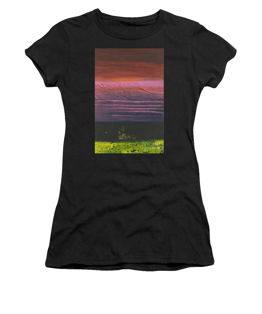 Abstract Women's T-Shirt (Athletic Fit) featuring the painting Storm by David Weigham