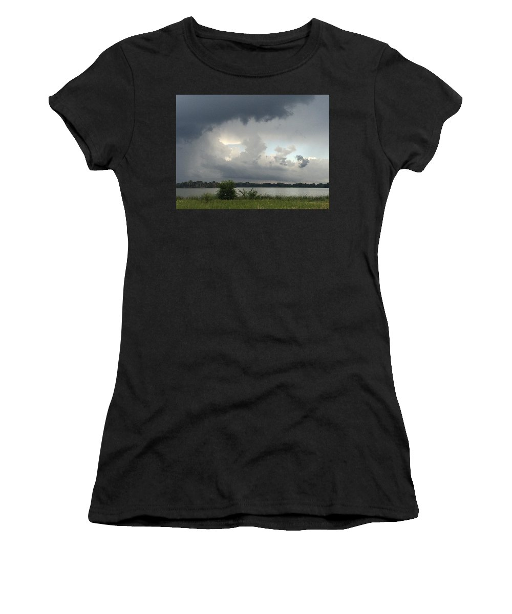 Thunderstorm Women's T-Shirt featuring the photograph Stormy Skies by Joni Moseng