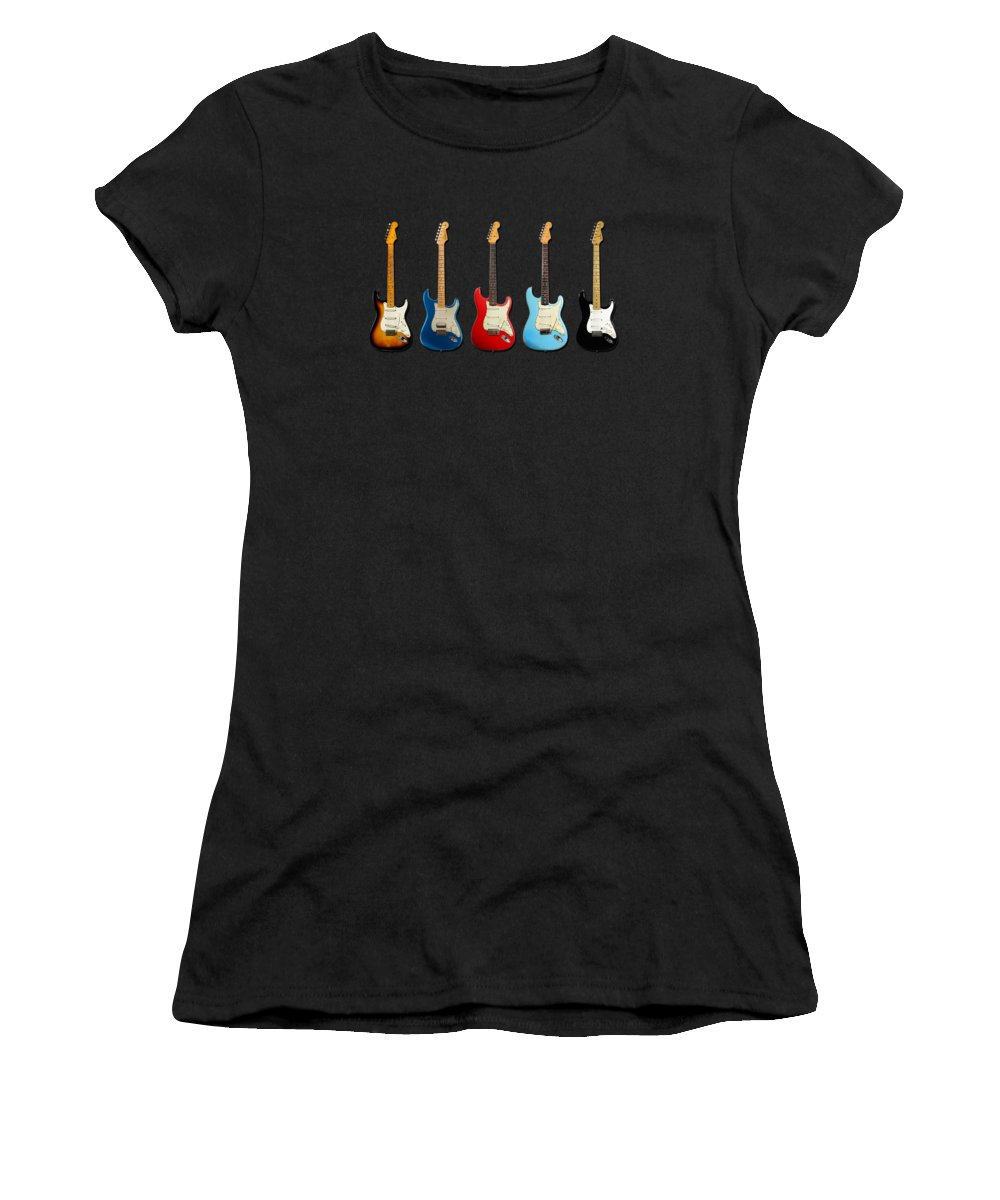 Fender Stratocaster Women's T-Shirt featuring the photograph Stratocaster by Mark Rogan