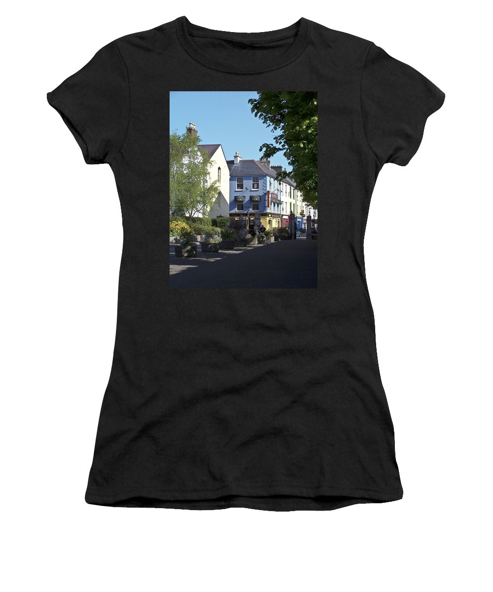 Irish Women's T-Shirt (Athletic Fit) featuring the photograph Street Corner In Tralee Ireland by Teresa Mucha
