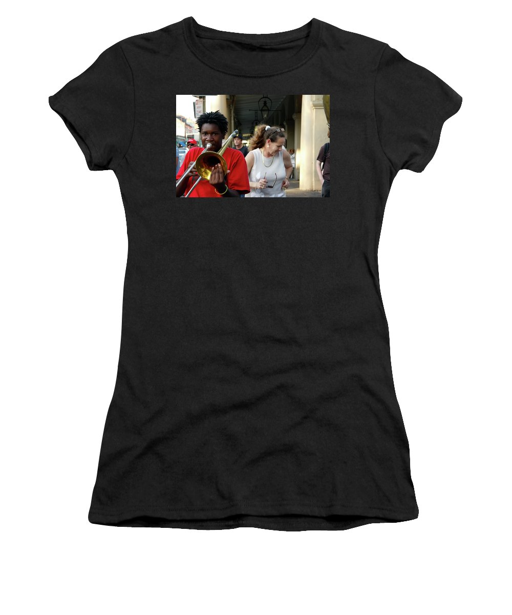 New Orleans Women's T-Shirt (Athletic Fit) featuring the photograph Street Jazz by KG Thienemann