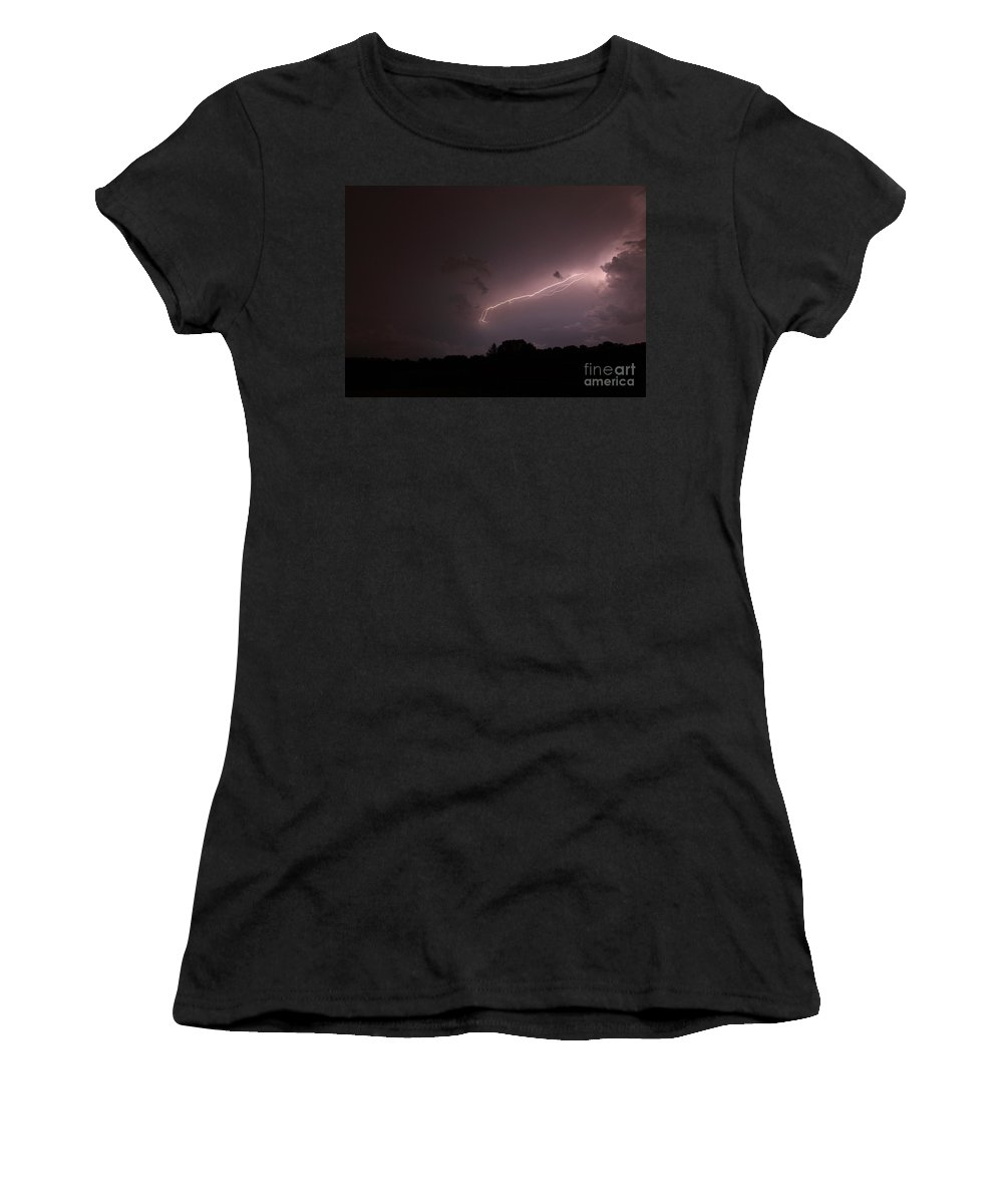 Lightning Women's T-Shirt (Athletic Fit) featuring the photograph Strong Arm by Amanda Barcon