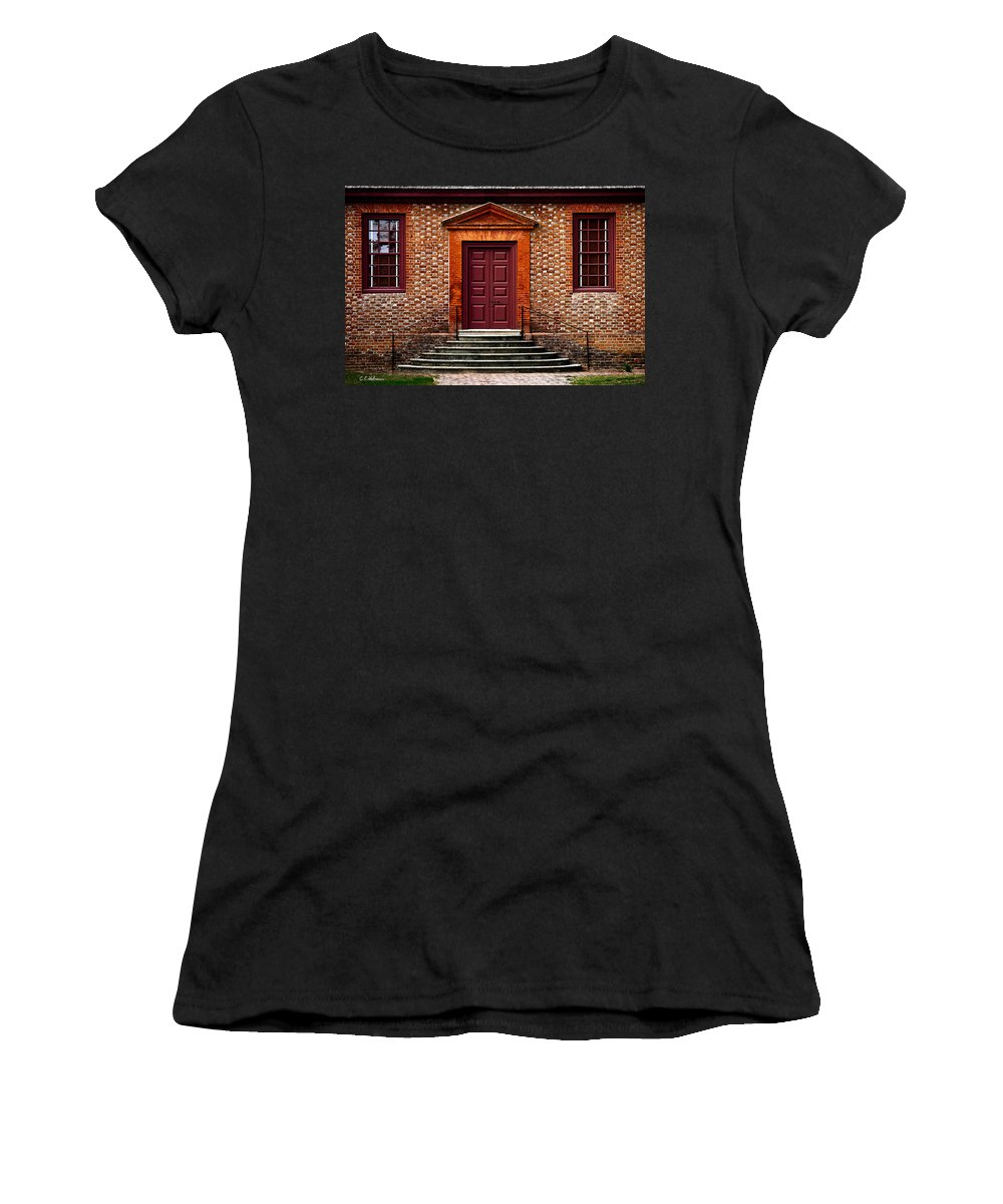 Secretary Women's T-Shirt (Athletic Fit) featuring the photograph Structural Symetry by Christopher Holmes