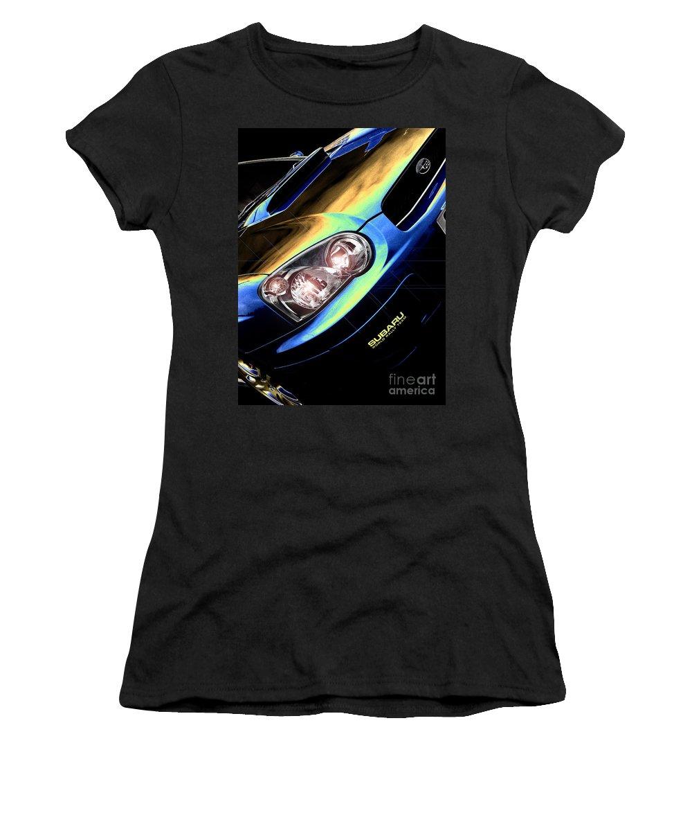 Car Women's T-Shirt featuring the digital art Subaru Impreza by Nigel Bangert