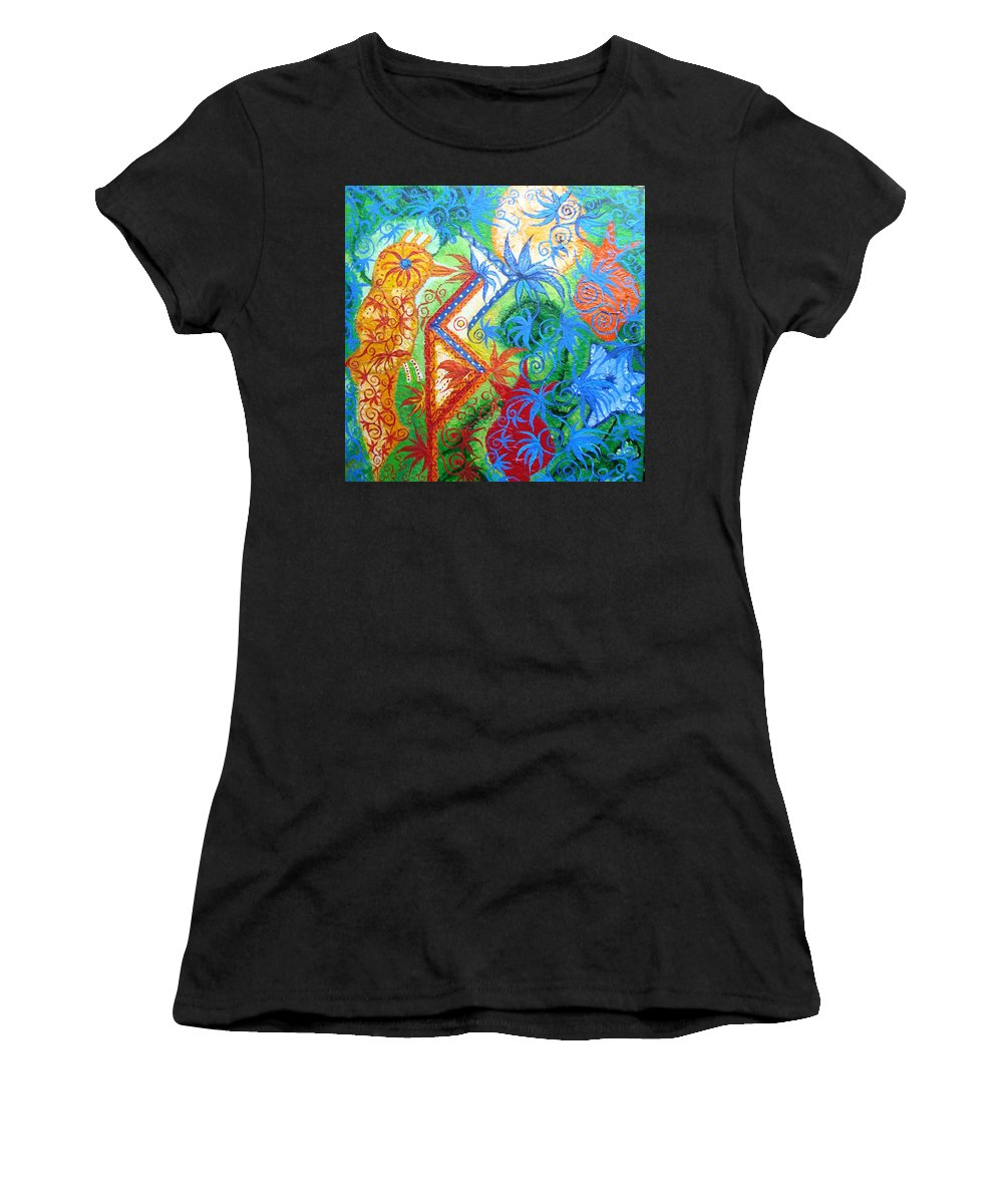 Runes Women's T-Shirt (Athletic Fit) featuring the painting Success From Project by Joanna Pilatowicz