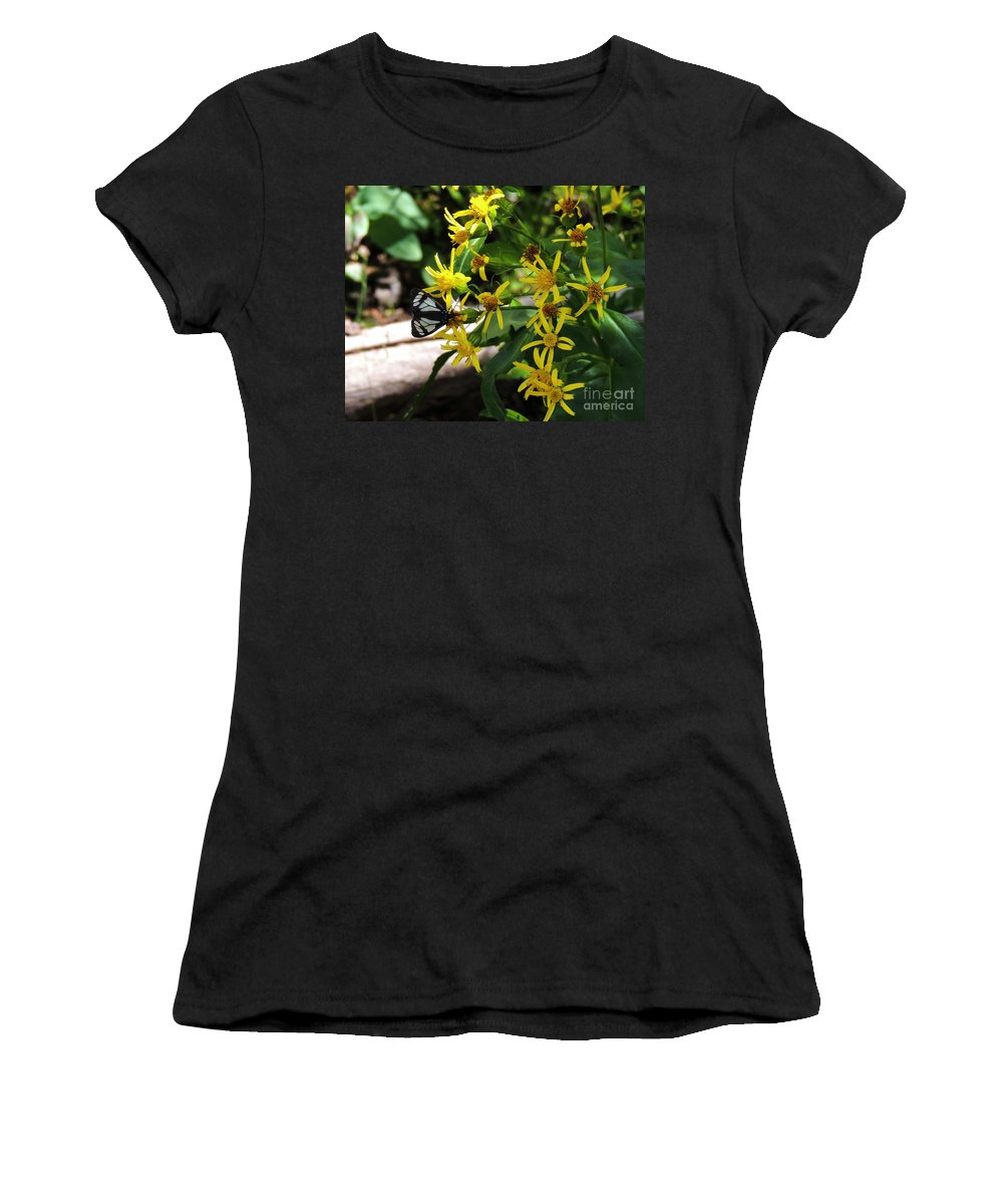 Black Women's T-Shirt (Athletic Fit) featuring the photograph Sucking Nectar by Grant Bolei