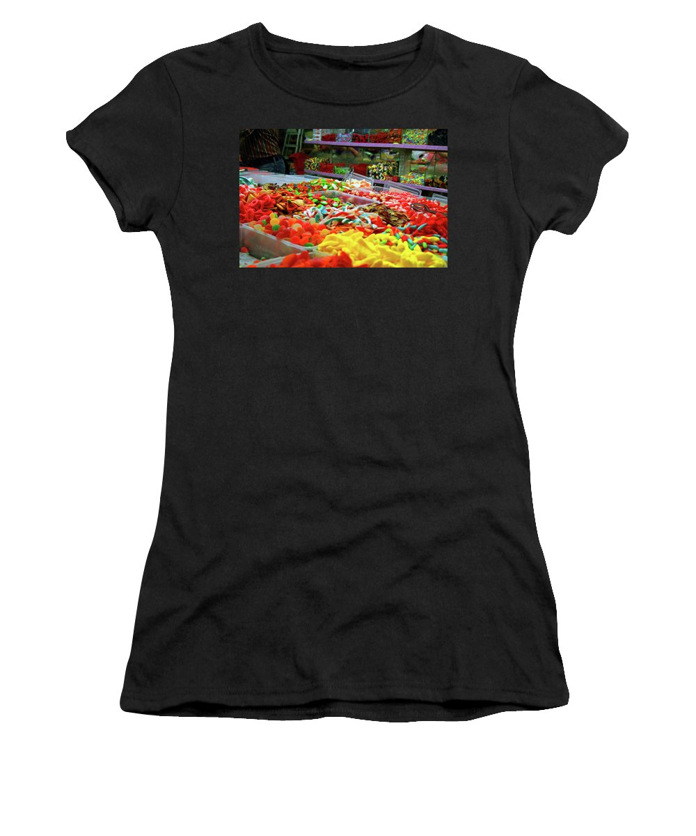 Israel Women's T-Shirt (Athletic Fit) featuring the photograph Sugar Rush by JLS By Design