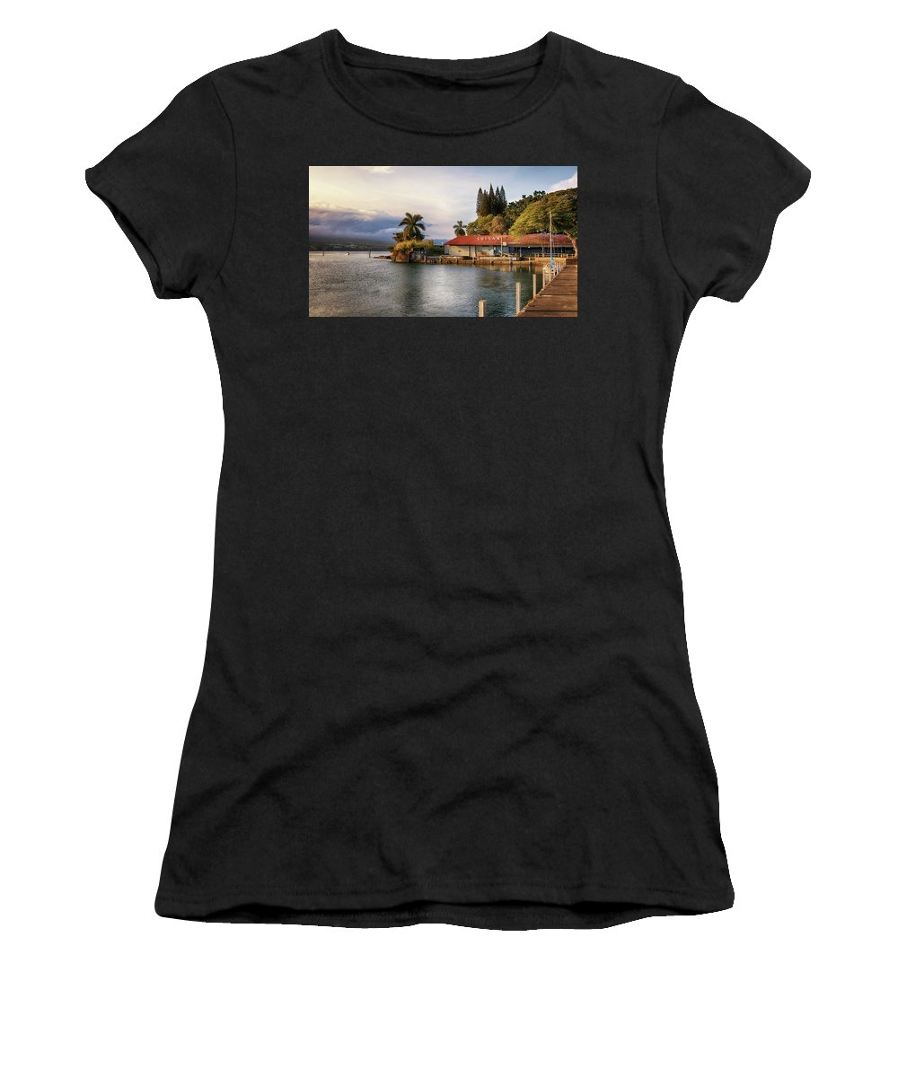 Suisan Fish Market Women's T-Shirt (Athletic Fit) featuring the photograph Suisan Fish Market by Susan Rissi Tregoning