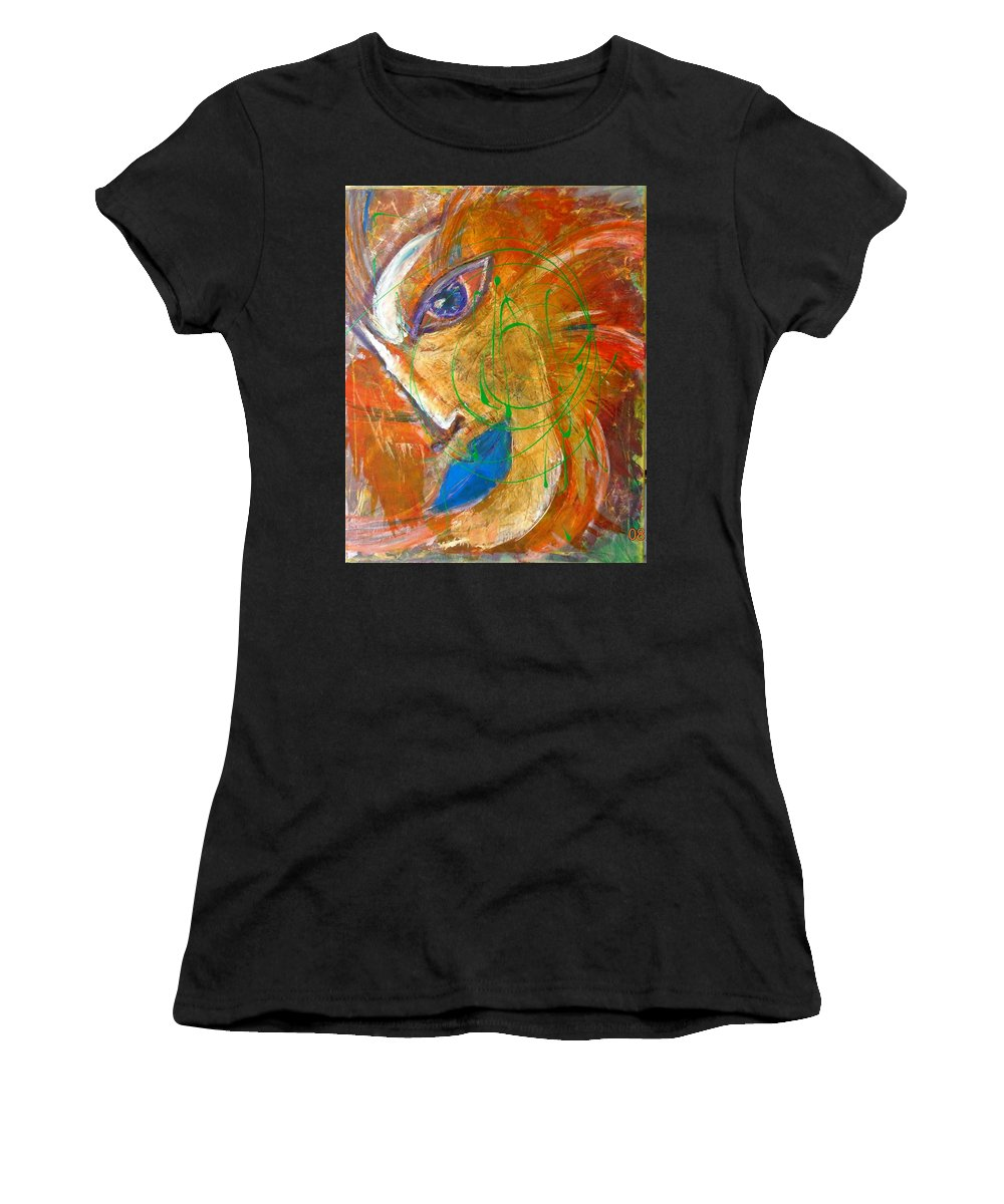 Portrait Women's T-Shirt (Athletic Fit) featuring the painting Sumerian by Inessa Guterman
