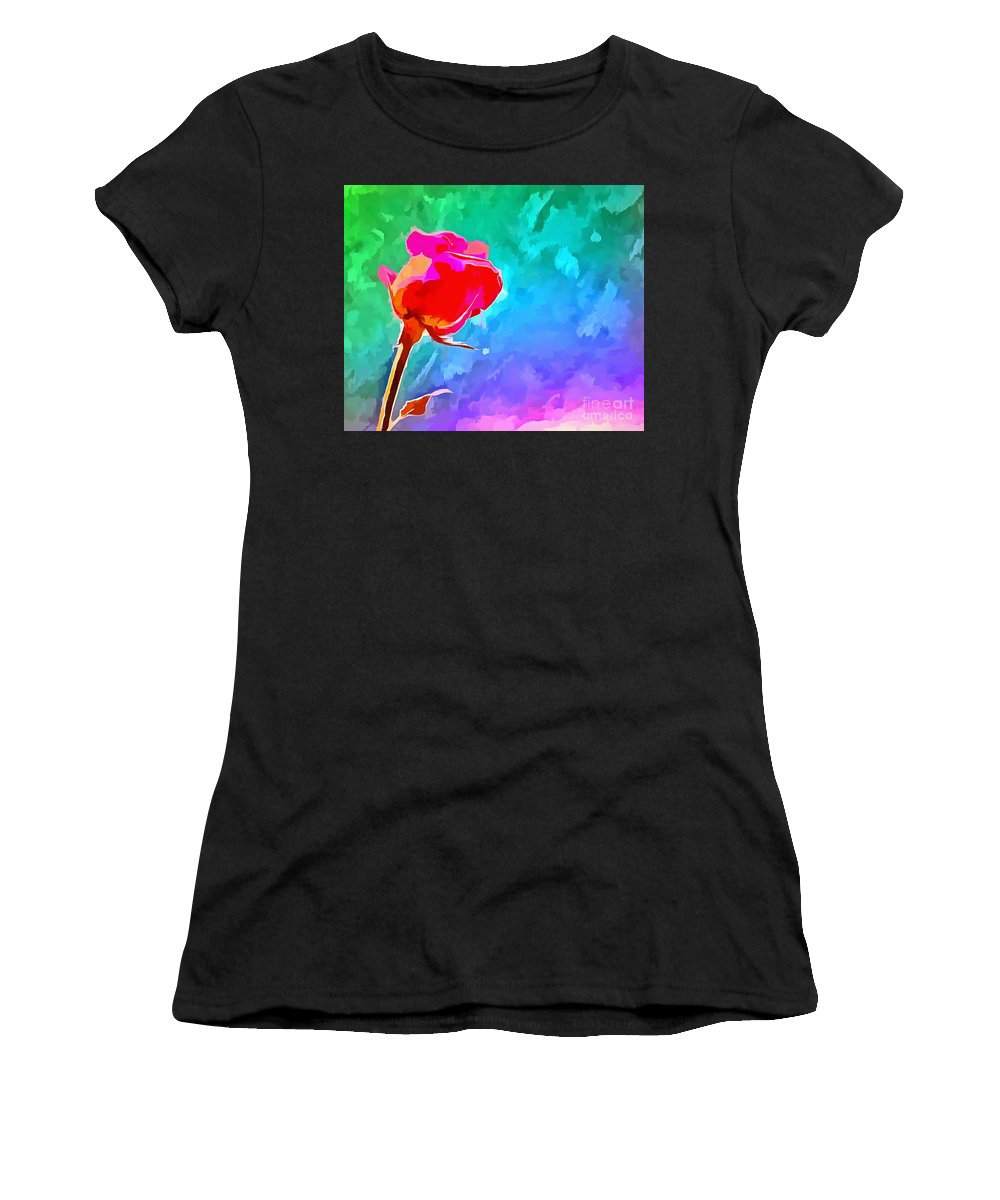 Rose Women's T-Shirt (Athletic Fit) featuring the digital art Summer Crush by Krissy Katsimbras