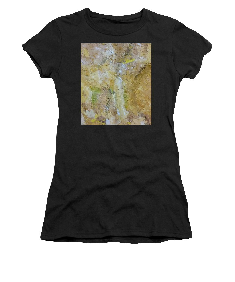 Mixed Media Women's T-Shirt (Athletic Fit) featuring the mixed media Summer by Eleni Papakonstanti