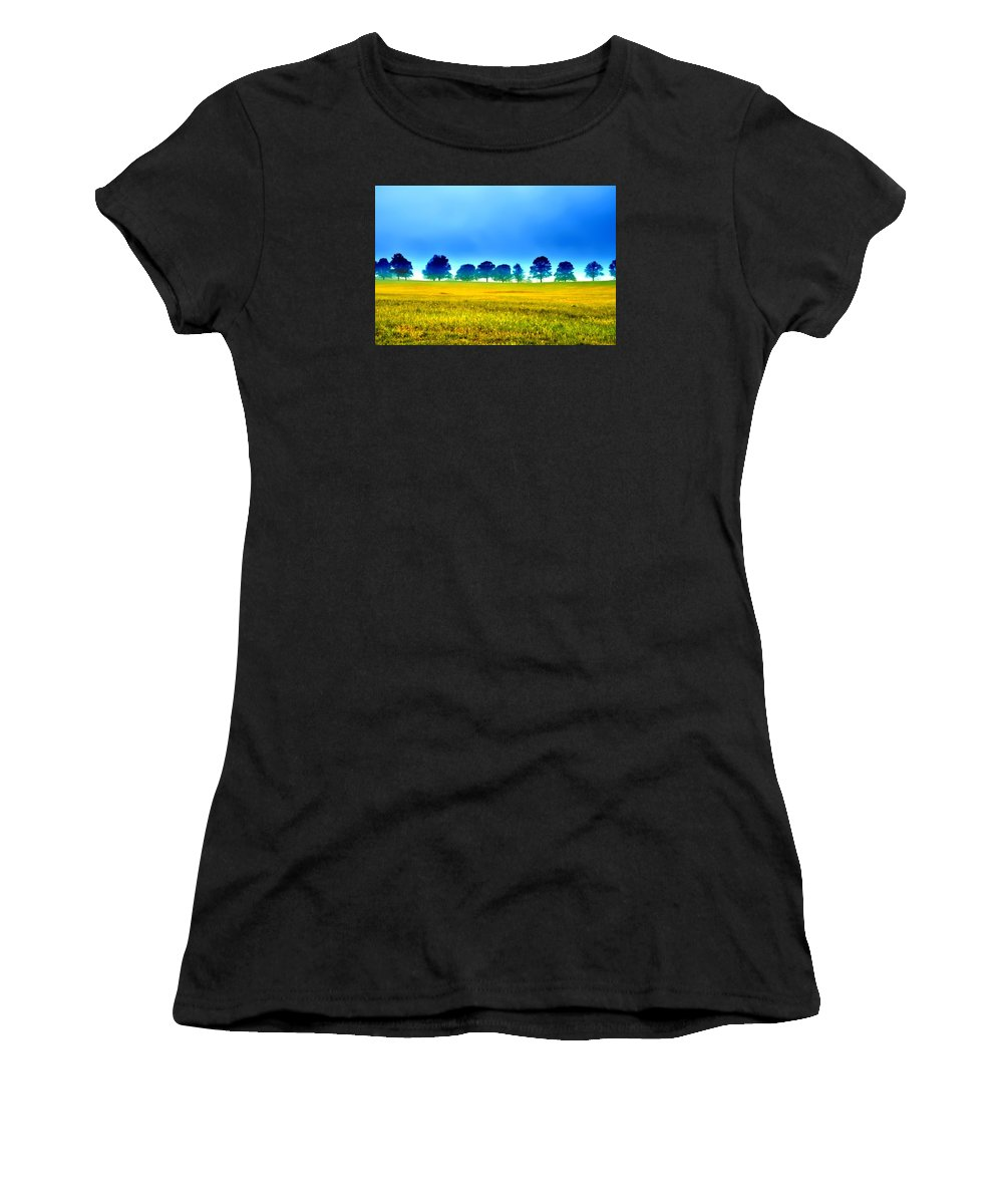 Valley Women's T-Shirt (Athletic Fit) featuring the photograph Summer Field by Bill Cannon