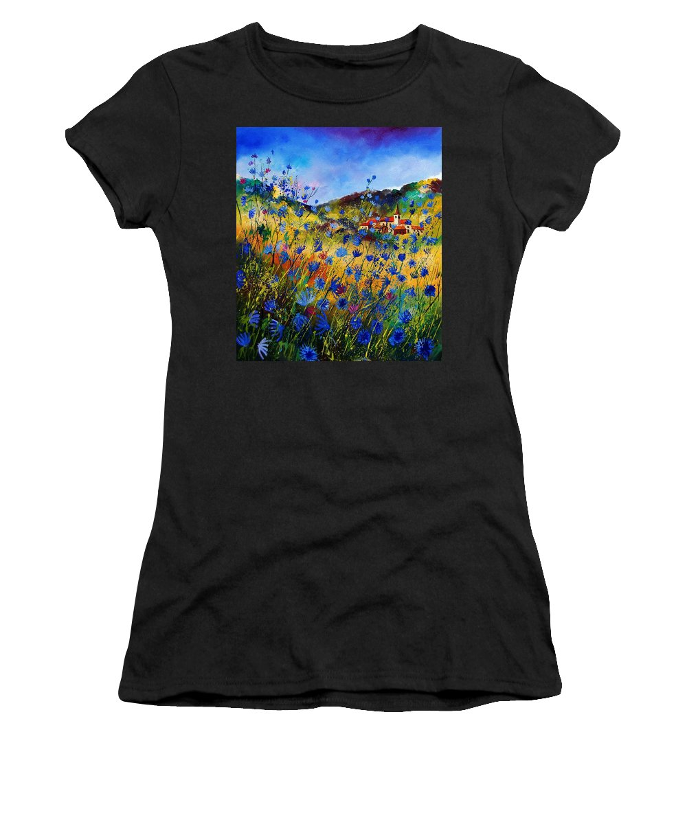 Flowers Women's T-Shirt (Athletic Fit) featuring the painting Summer Glory by Pol Ledent