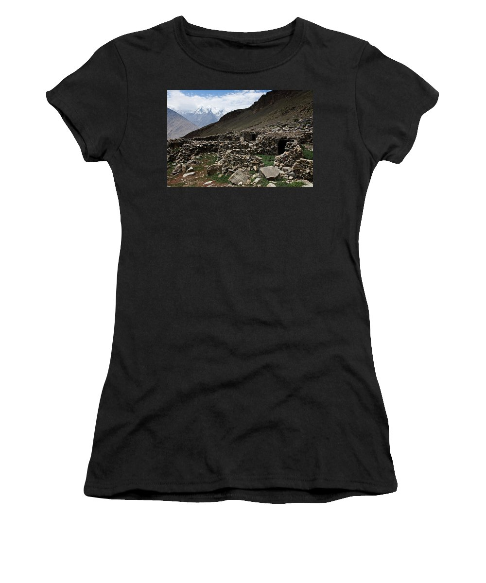 Backpacking Women's T-Shirt (Athletic Fit) featuring the photograph Summer Hut by Konstantin Dikovsky