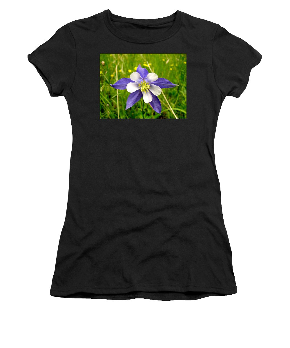 Plant Women's T-Shirt (Athletic Fit) featuring the photograph Summer In The Rockies by Carol Milisen