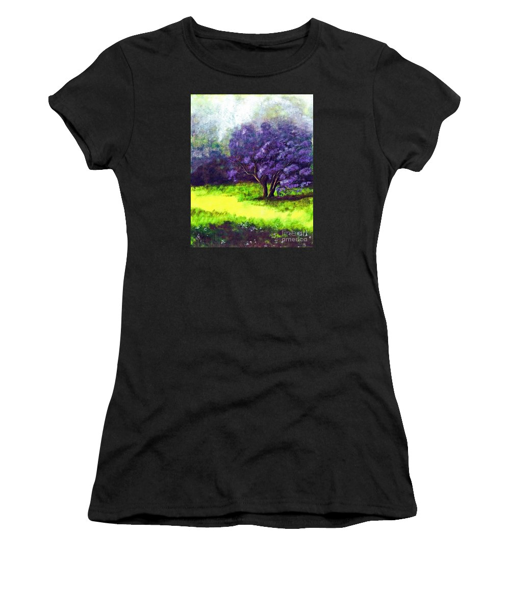 Fine Art Print Women's T-Shirt (Athletic Fit) featuring the painting Summer Mist by Patricia Griffin Brett