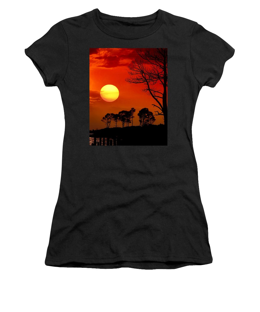 Fort Walton Beach Women's T-Shirt (Athletic Fit) featuring the photograph Summer Nights by Janet Fikar