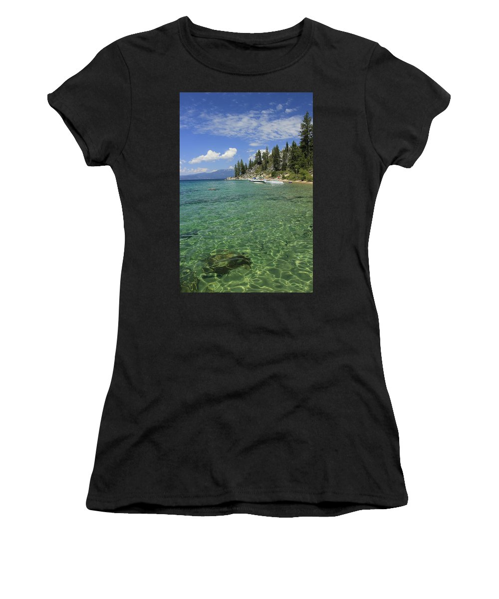 Lake Tahoe Women's T-Shirt featuring the photograph Summer Shore by Sean Sarsfield