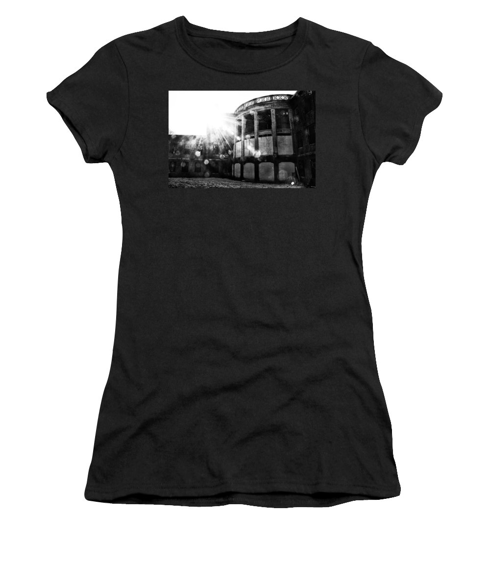 Norristown Women's T-Shirt (Athletic Fit) featuring the photograph Sun Shines On Crazytown by Bill Cannon