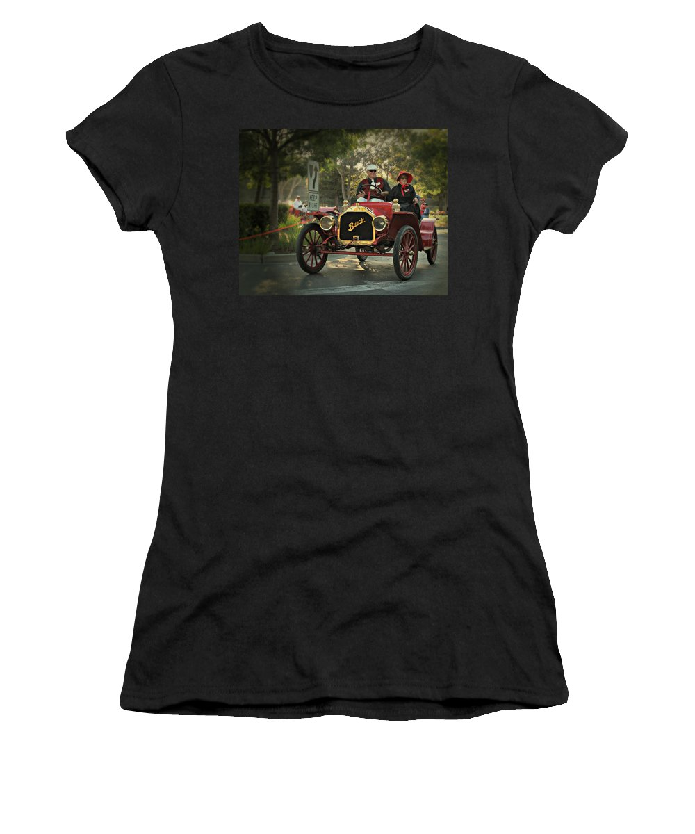 Buick Women's T-Shirt featuring the photograph Sunday Drive In A 1910 Buick by Steve Natale