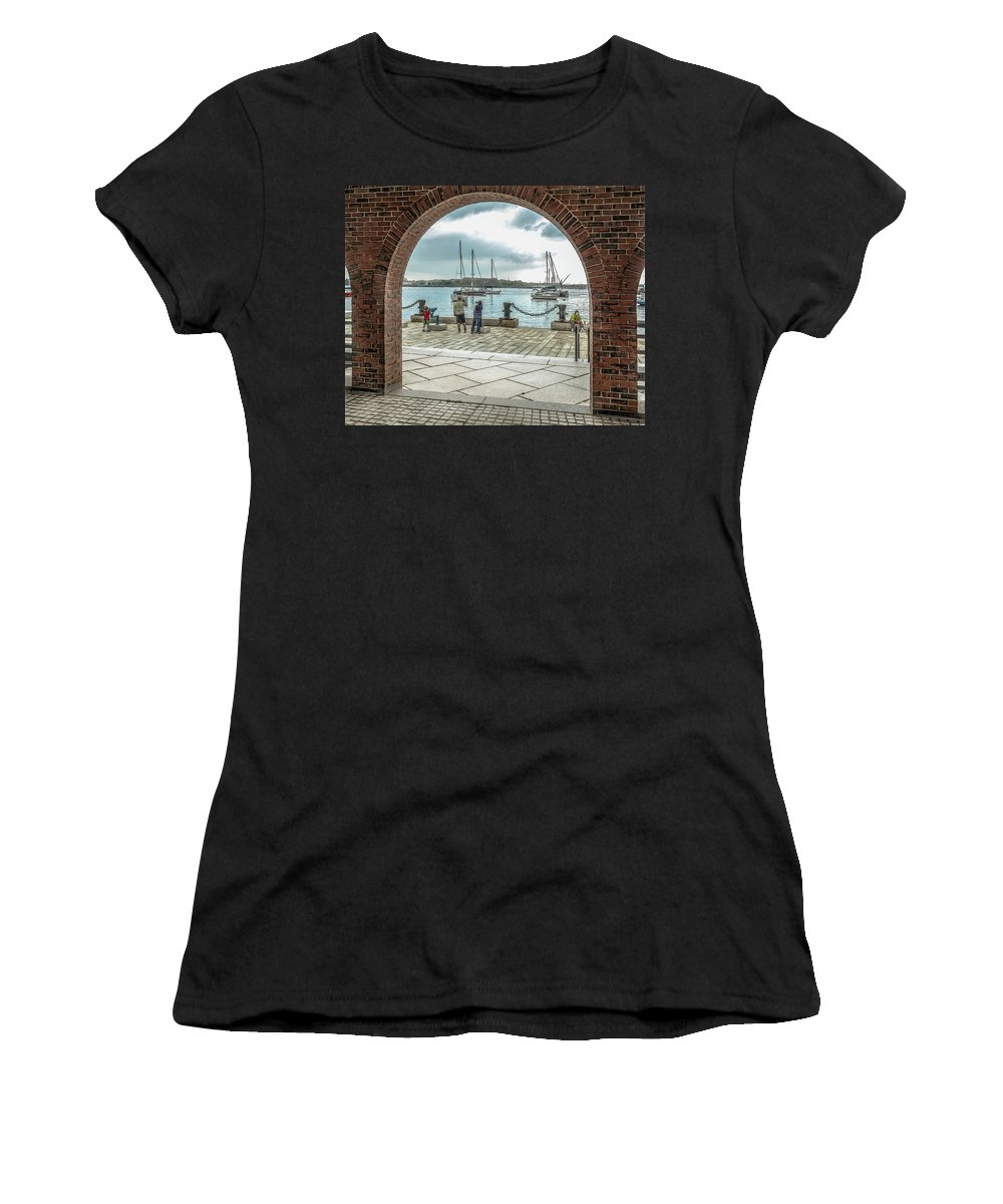 People Women's T-Shirt featuring the photograph Sunday Watch by Erwin Spinner