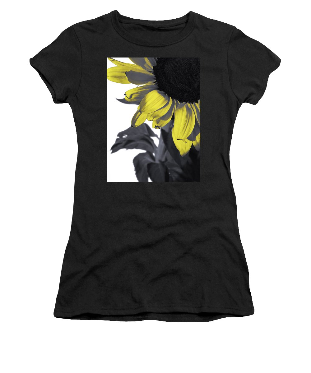 Sunflower Women's T-Shirt (Athletic Fit) featuring the photograph Sunflower by Kelly Jade King