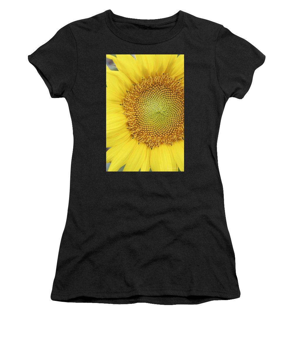 Sunflower Women's T-Shirt (Athletic Fit) featuring the photograph Sunflower by Margie Wildblood