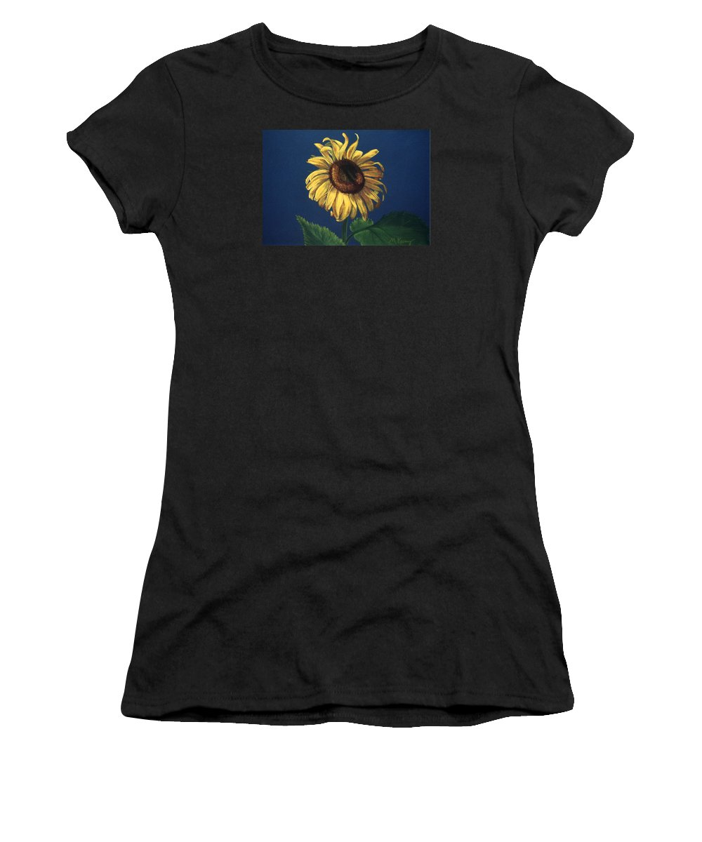 Flower Women's T-Shirt (Athletic Fit) featuring the painting Sunflower by Melissa Joyfully